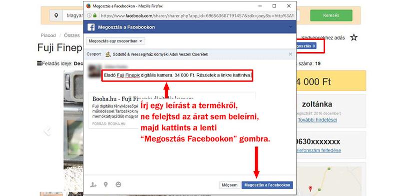 Feltöltés facebook csoportba
